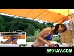 Mosaic: swimming pool bikini shop girl 05