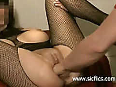 Big tit babe loves her ass and pussy fisted