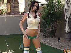 Nikki Nova Gets Naked at Mini Golf!