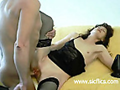 Giant butt plug fucked and fisted housewife