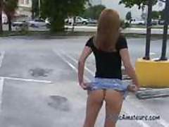 Public Nudity-Brandi Flashing in Public