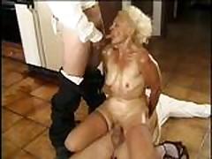 mature blonde anal