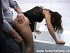 No Sound: Young Italian Amateur Blowjob