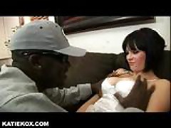 Katie makes cuckold hubby watch her fuck black