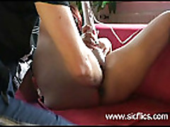 The slave is fisted by her master