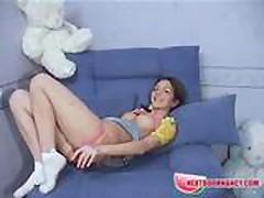 NextDoorNancy - Playing on a sofa