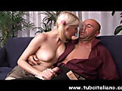Italian Blonde Teen Fucked Biondina