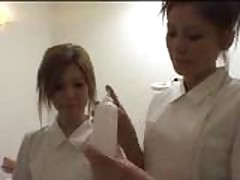 3 white girls in Japanese massage parlor