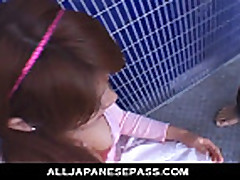 No Sound: Horny Asian babe gets her face stuffed by dic