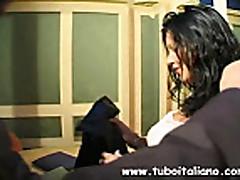Italian Sexy Brunette Fucked