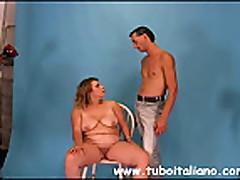 Blonde Italian Bigtits BBW Tettona