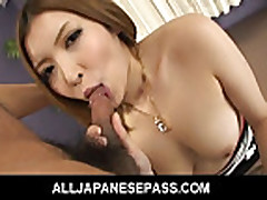 Big titty Riana Natsukawa has her pussy filled with mea
