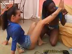 Brazil Interracial Feet Worship 1