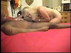 Mature wife drains black nuts