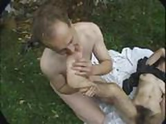 Piss: Very Hairy Girl Outdoor