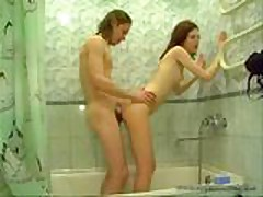 Russian Liza in Bathroom