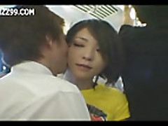 Mosaic- girl in train gives geek handjob