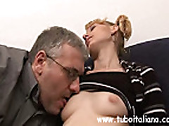 No Sound: Sexy Italian Teen with older man
