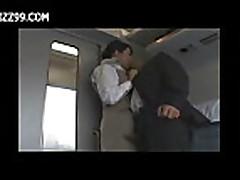sexy train waitress fucked with passenger