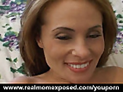 Redhead milf fucked and jizzed in bed