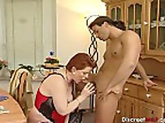 Short hair redhead mature slut