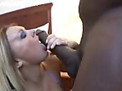 A mature caucasian woman has a fantastic style blowjob
