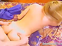 Beautiful Blonde Haley Takes A Hard Cock