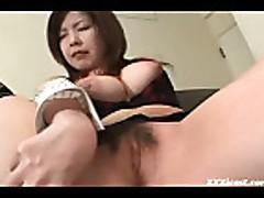 Shy Asian In Stockings