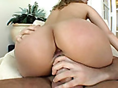 Brunette plays with dildo and gets 2 cocks