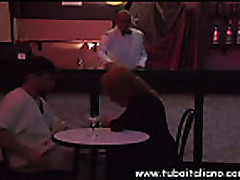 Italian Blonde Blowjob on Pool