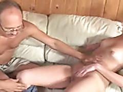Next Door Gorny Teen sucks Old Guy