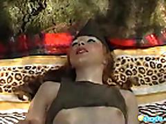 Piss- Outdoor girlfriend Mila painful bottle insertion