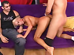 husband watcheshis wife getting fucked by another dude