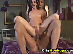 Two Hot Naughty Sexy Chicks Banged Hard In Their Room