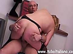No Sound: Italian Blonde Milf Fucked