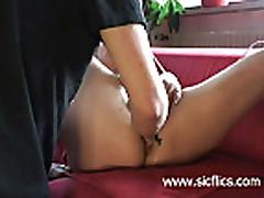 Amateur slut fist fucked and masturbating till she reac