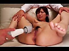 Mosaic: Yuna Shiina fucked by vibrators