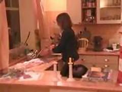 anal plug on kitchen table