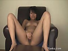 ebony pleases pussy