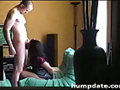 Sexy girlfriend gives sensual blowjob