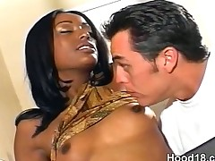 Black girl craving some serious cock action for her pussy