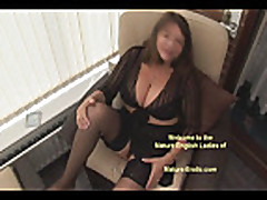 No sosund: Big tits hairy mature in stockings and see t