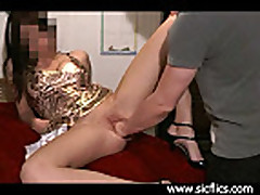 Busty amateur slut brutally fisted in her loose pussy