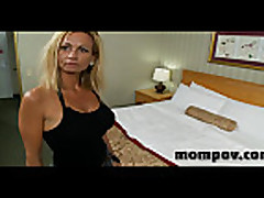 blonde milf fucking two cocks at once