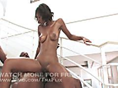 Sexy Ebony Babe Rides Mr Marcus