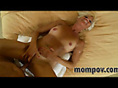 No Sound: hot blonde mature milf fucking a young cock