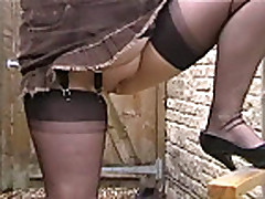 English MILF In Black Seamed Fully Fashioned Stockings