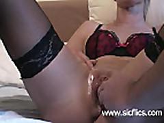 Extreme slut fist fucked in her monster swollen cunt