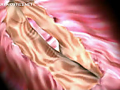 Wet hentai pussy fingered to orgasm