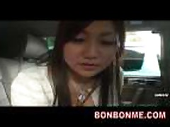 Mosaic- cute jap girl oral blowjob in car
